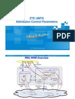 ZTE UMTS Admission Control Parameters