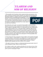 Secularism and Freedom of Religion