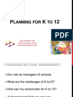Planning  for K12 (Philippines)