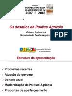 Edilson Guimaraes - Perspectivas Para Agribusiness