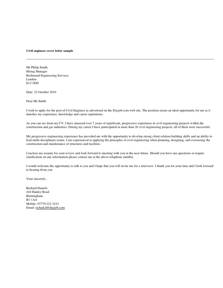 Cover Letter Sample Engineering from imgv2-1-f.scribdassets.com