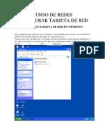 Configurar Tarjeta de Red en Windows Xp(Sp2)