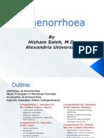 Amenorrhoea Hisham Saleh
