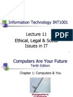 Ethical, Legal & Social Issues in Information technlogy