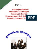 HRM Unit-4 Motivational Strategies