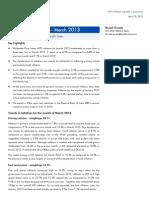 WPI Inflation, March 2013