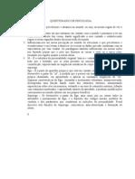 QUESTIONÁRIO DE PSICOLOGIA
