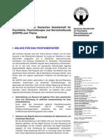 DGPPN Positionspapier Burnout