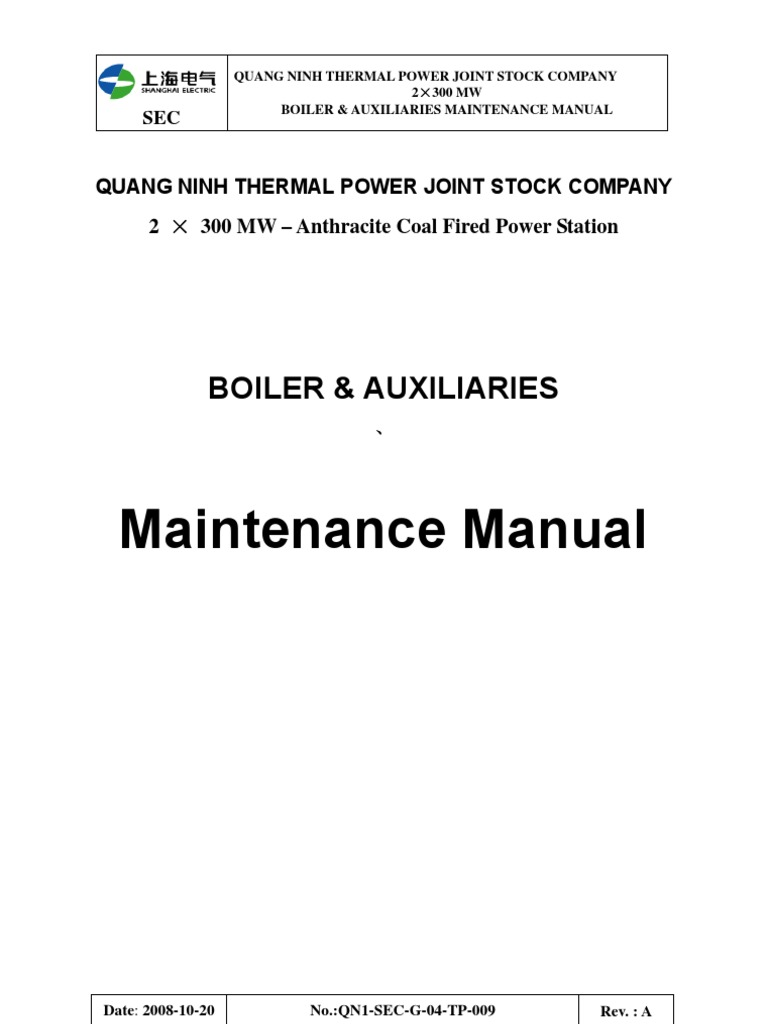 Boiler & Auxiliaries Maintenance Manuall Qn1 Sec g 04 Tp 009 ...