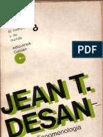 1953. Desanti, J. Fenomenología y praxis