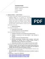 Atividade 01 - Caracterização do perfil empreendedor