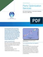 Parts Op Tim Ization Services Sheet