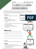 1er. Año - ALG - Guía 1 - Revisión de Elementos Al
