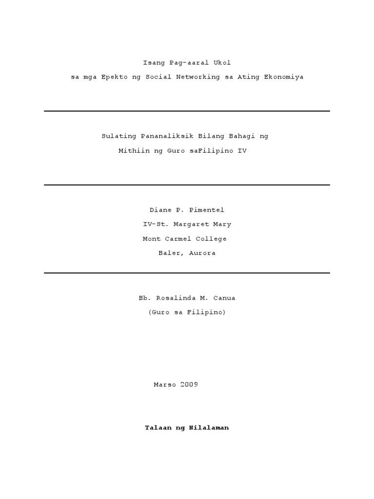 Mga tagalog na thesis