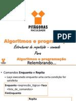 Aula 06 - Algoritmos - Estruturas de repetição (para)_20130403093718.pptx