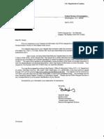 FBI response to Keogh MDR request for FBI File 203A-WF-210023