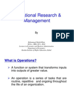 1. Operational Research
