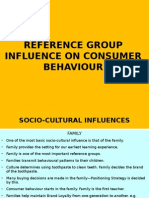 Reference Group Influenec on Consumer Behaviour