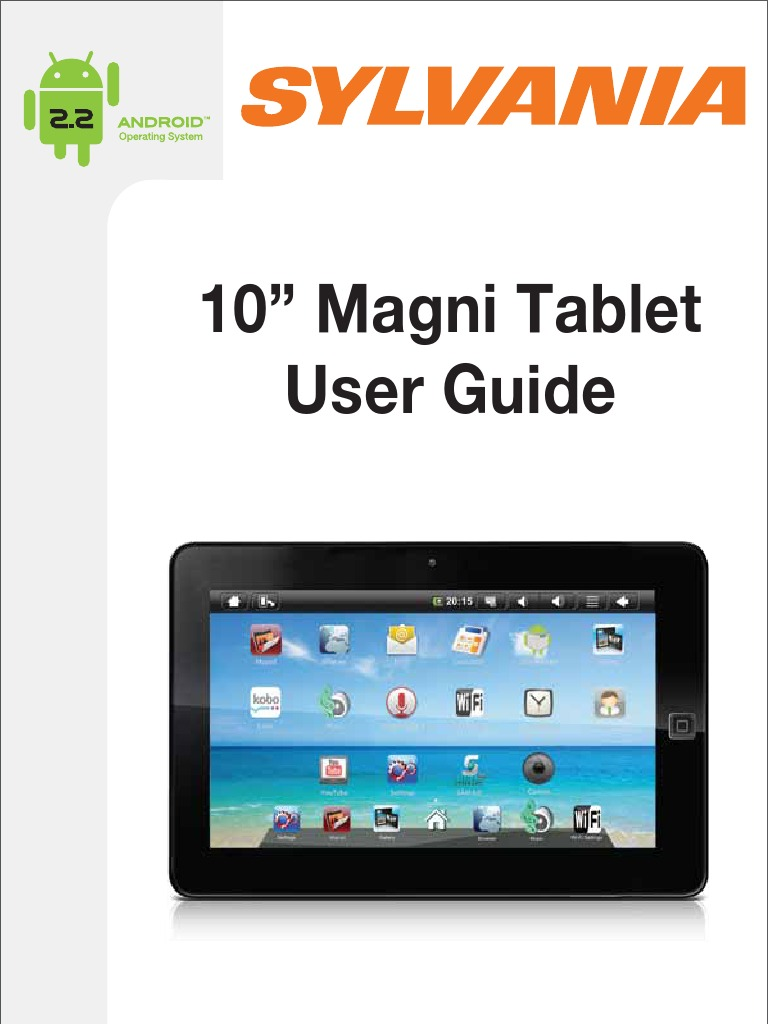 sylvania tablet 10 st wi fi tablet computer rh es scribd com Sylvania Tablet Android 2.1 Sylvania Tablet 10 Inch
