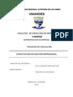 PERFIL DE  VINCULACIÓN  DEL MUNICIPIO DE CATARAMA ING. V.VERA