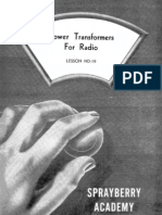 Lesson ND-19, Power Transformers for Radio
