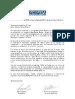 Carta de FOPEA a periodistas agredidos de FM Libre