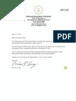 Long Resignation Letter