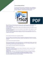 Trucos y Consejos Para El Uso de Microsoft Word