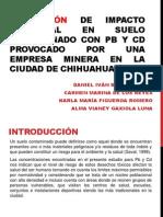 Evaluación de Impacto Ambiental en Suelo contaminado con Pb y Cd provocado por una empresa minera en la ciudad de Chihuahua (1).ppt