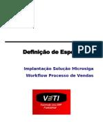 Definicao de Especificos Workflow Vendas