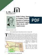 Irish Colony, Immigrants & Orphan Trains From Boston to Yankton, Dakota Territorial Capital 1861-1883