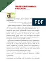 EL AMBIENTE TERAPEÚTICO EN LOS CUIDADOS DE ENFERMERÍA EN SALUD MENTAL