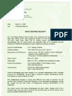 Secret Federal Reserve Receipts