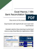 Excel Macros / VBA (Bank Reconciliation Program)