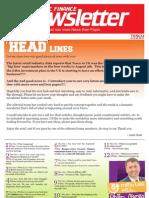 HSC FINANCE Newsletter_August 2012