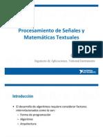 Procesamiento de Senales y Matematicas Textuales