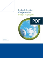 Budget Highlights 2013