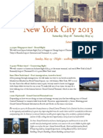 NYC Itinerary (updated 17 April 2013)