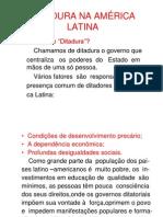 DITADURA,MÉXICO ,AMÉRICA CENTRAL CONTINENTAL E INSULAR   PAU