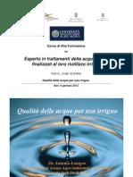 Lezione 2 - Qualità delle acque irrigue