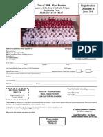 Class of 1998 Reunion Registration Form