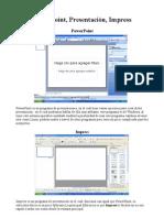Compracion Impress, Powerpoint y Presentacion