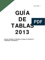 Guia de Tabla 2013