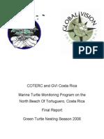 greenturtle nesting season 2006 chaparro et al