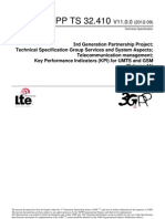 Telecommunication Management; Key Performance Indicators (KPI) for UMTS and GSM