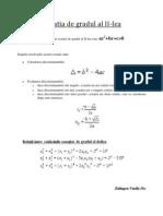 Ecuatia de Gradul Al II