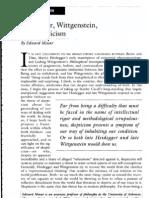 Heidegger, Wittgenstein, Skepticism
