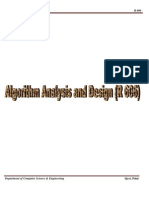 Algorithm Analysis and Design