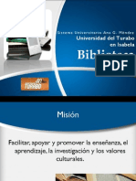 Servicios Bibliotecarios UT Isabela