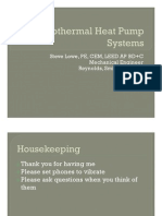 Geothermal Heat Pump Systems Presentation